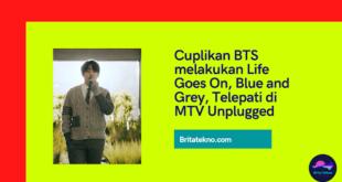 Cuplikan BTS Membawakan Lagu Life Goes On